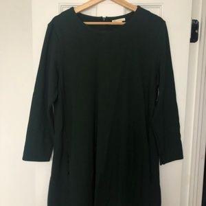 H&M Long Sleeve Dark Green Dress Size L